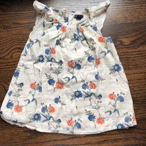 Gap floral flutter sleeve dress. 18-25m